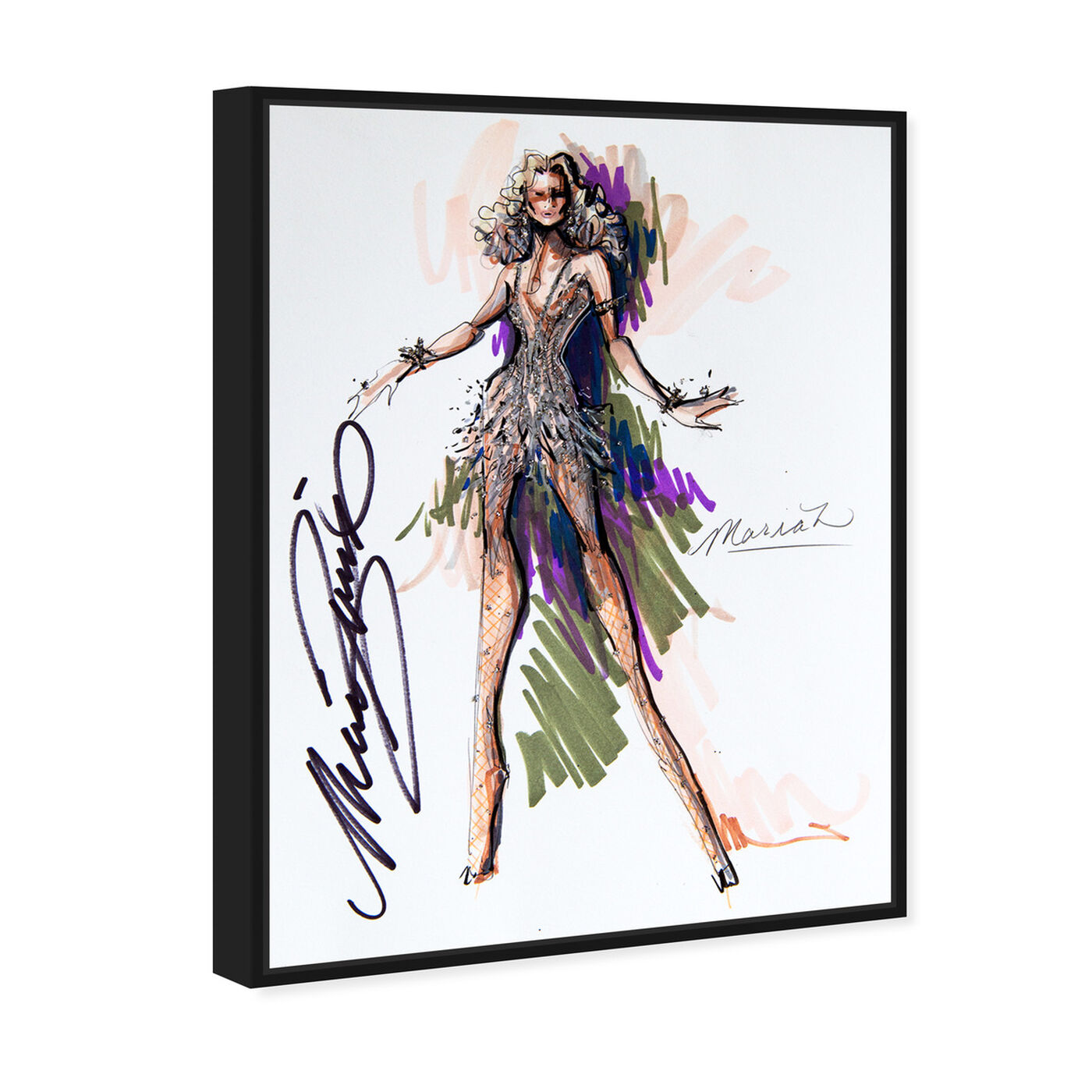 Angled view of Mark Zunino - Queen M featuring fashion and glam and sketches art.