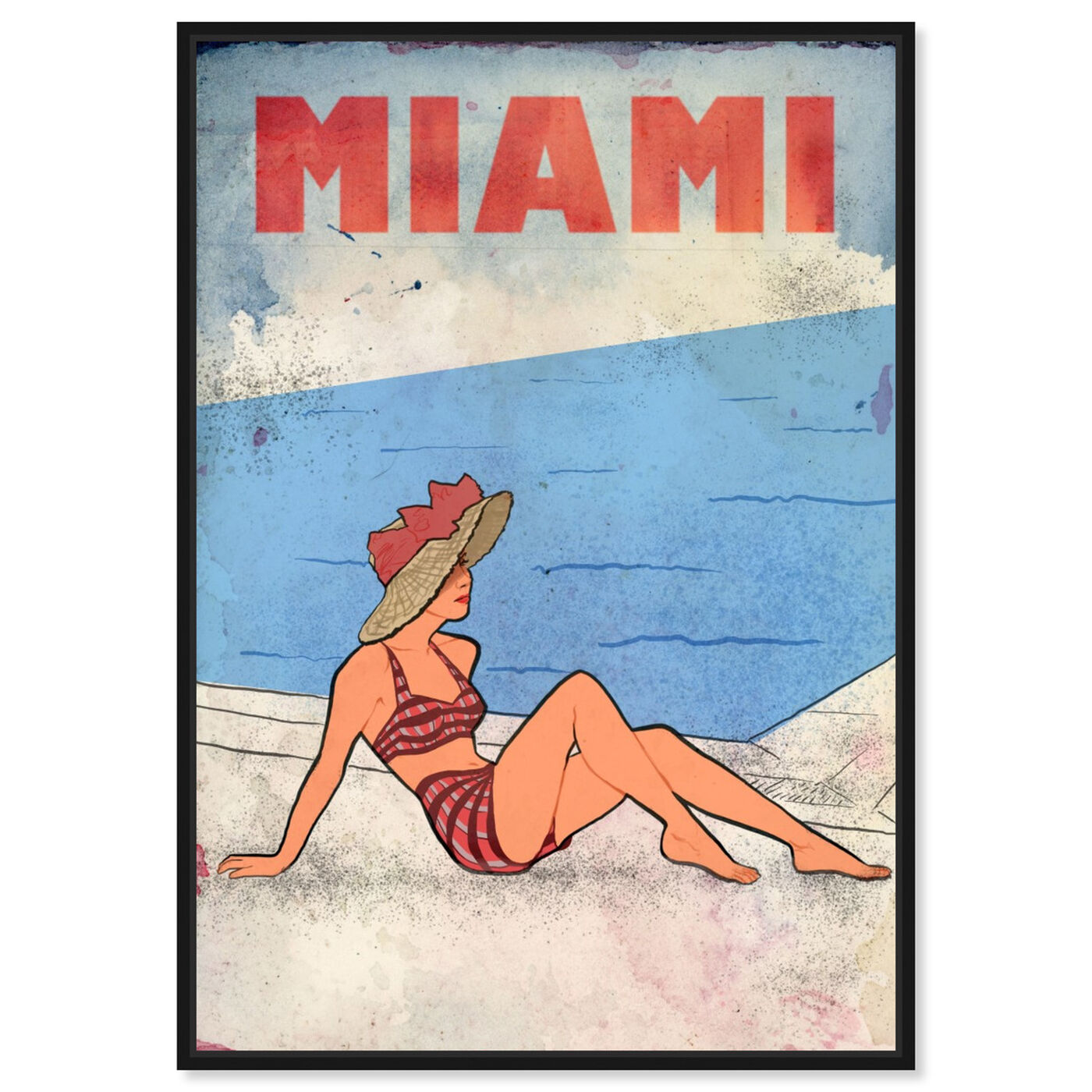 Front view of Miami Lady featuring cities and skylines and united states cities art.