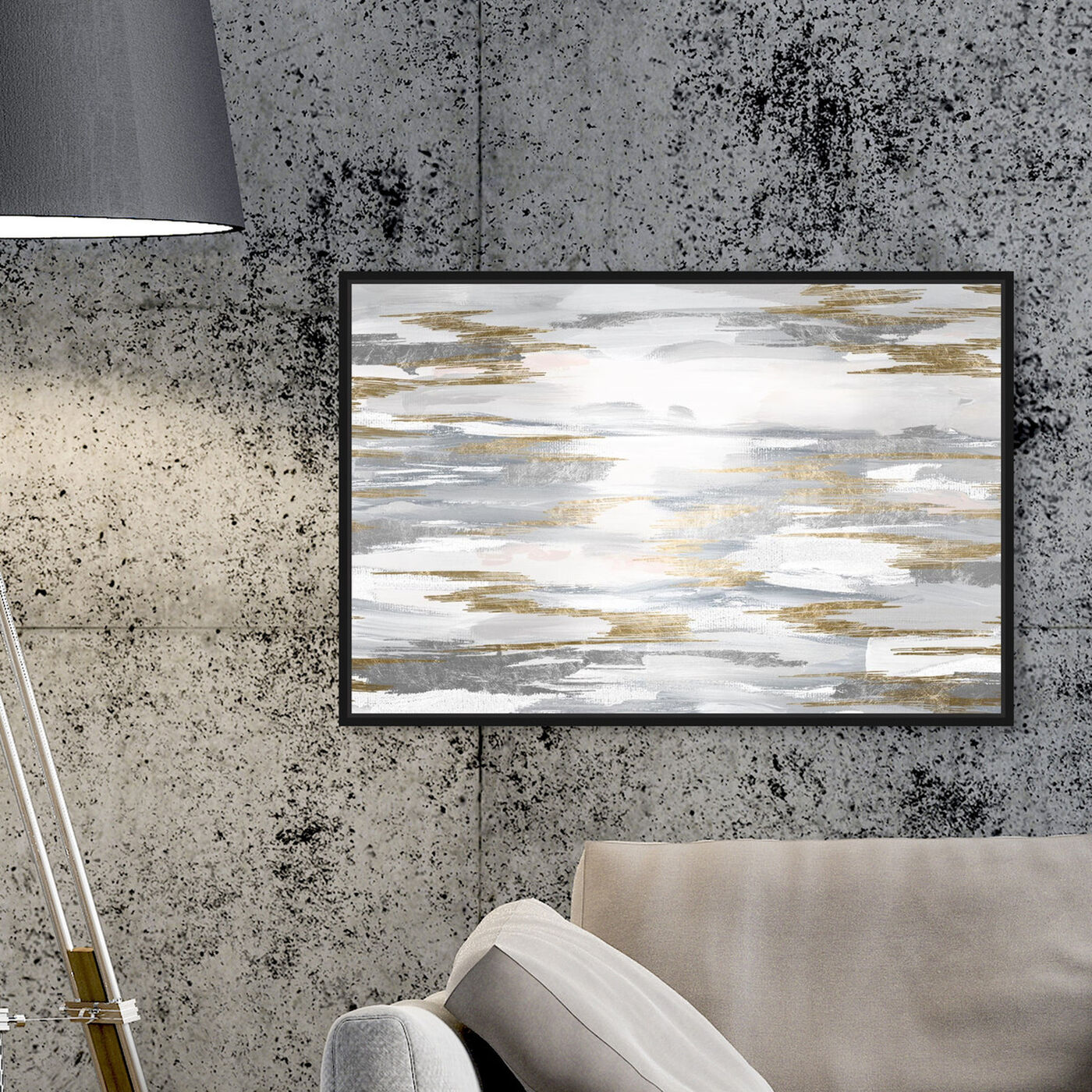 Hanging view of Amanecer featuring abstract and paint art.