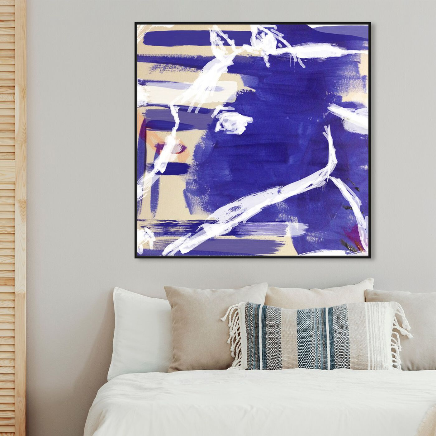 Hanging view of Equus featuring abstract and paint art.