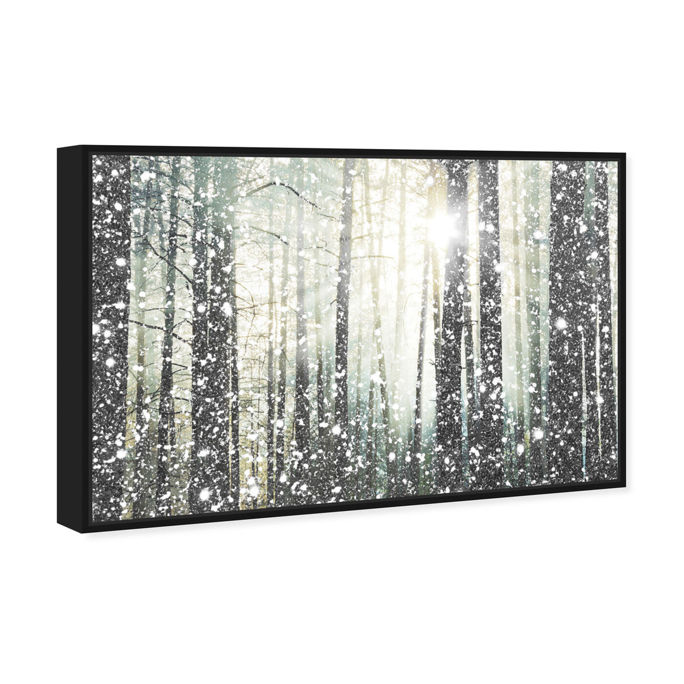 Angled view of Magical Forest SILVER featuring nature and landscape and forest landscapes art.