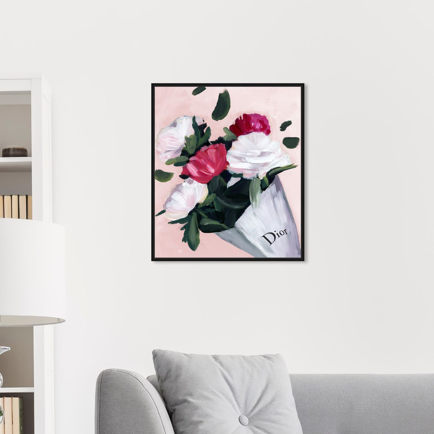Hanging view of Peony Lover Blush featuring fashion and glam and lifestyle art.