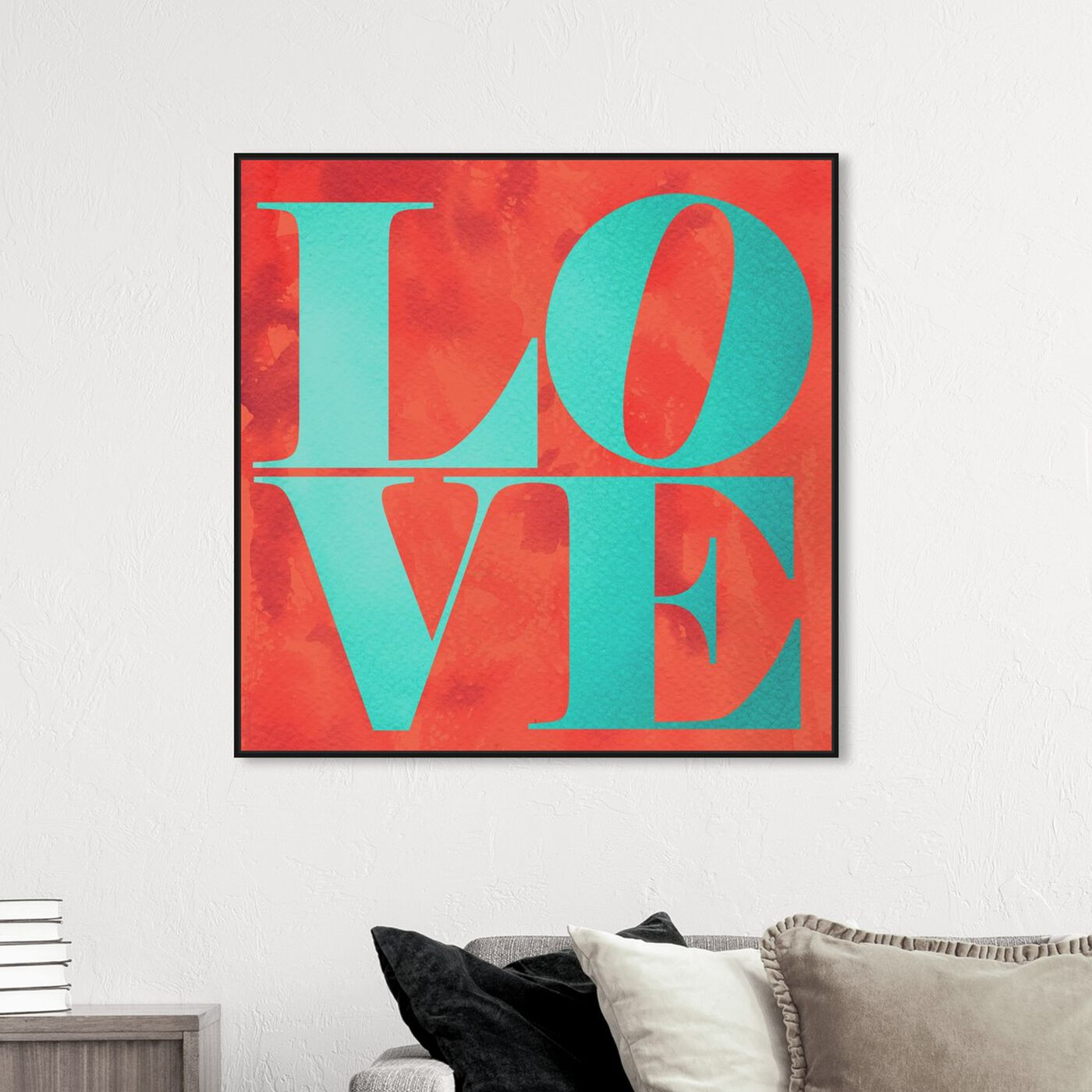 Hanging view of Build on Love Tropical featuring typography and quotes and love quotes and sayings art.