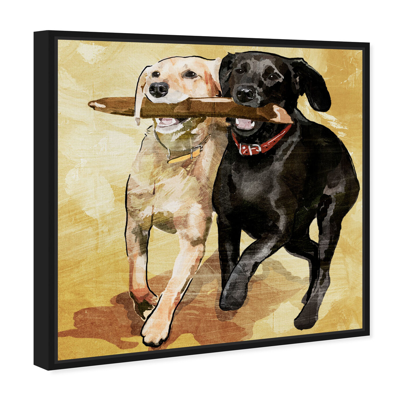 Angled view of Playtime featuring animals and dogs and puppies art.