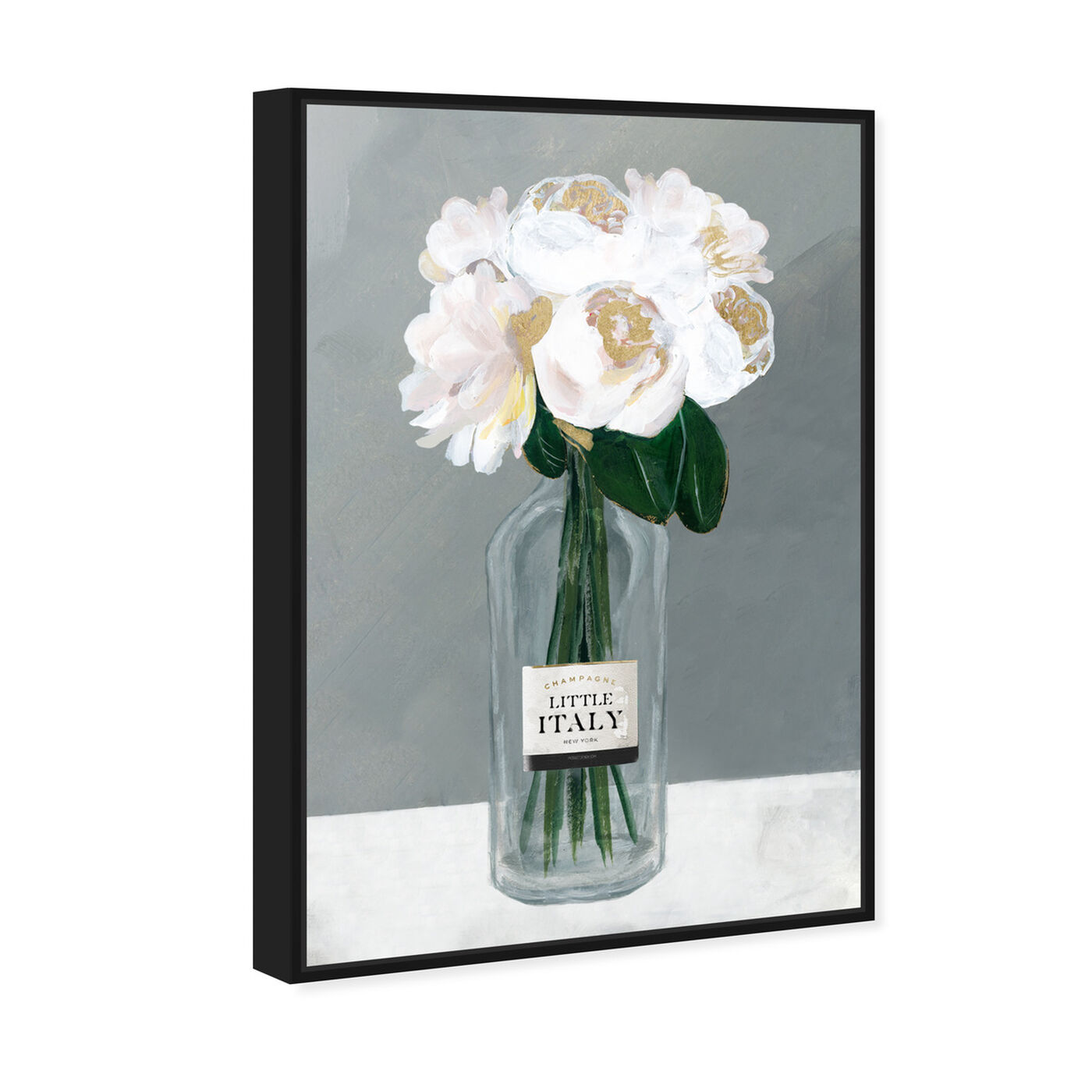 Angled view of Little Italy Roses featuring floral and botanical and florals art.