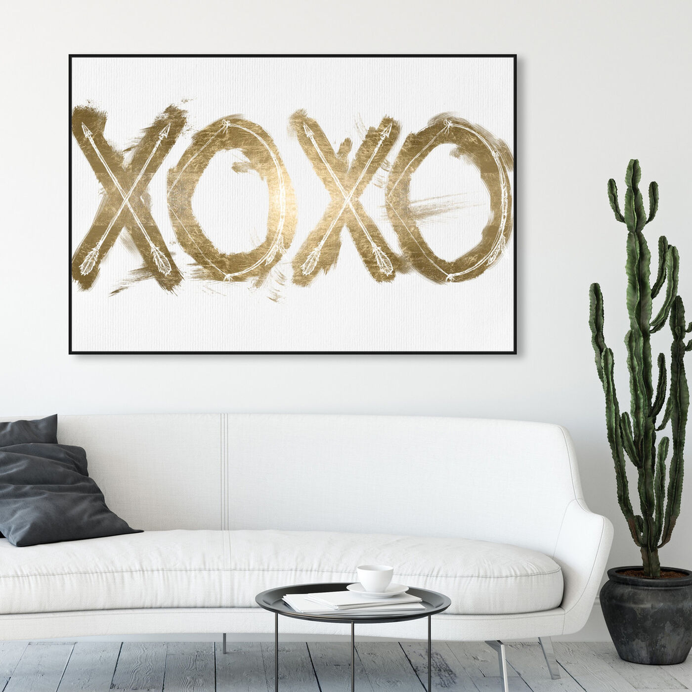 Hanging view of Warrior XOXO featuring typography and quotes and quotes and sayings art.