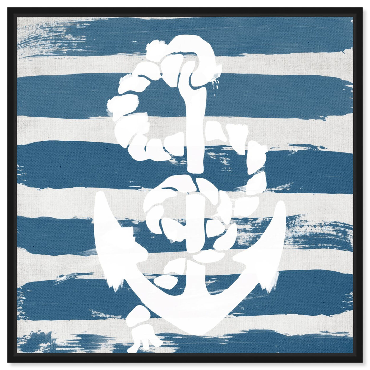 Front view of Anchored to the Ocean Blue featuring nautical and coastal and nautical watercrafts art.