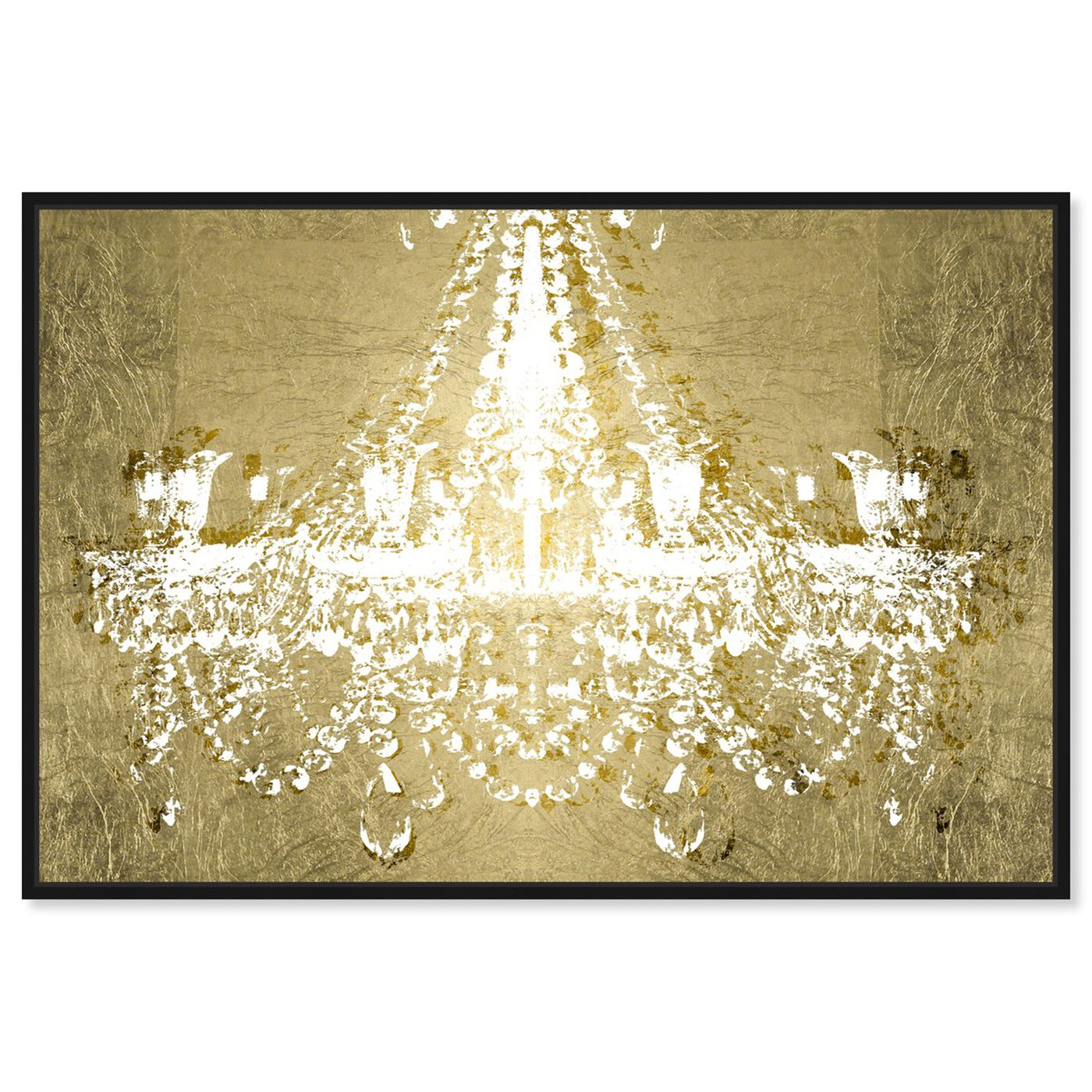 Front view of Dramatic Entrance GOLD featuring fashion and glam and chandeliers art.