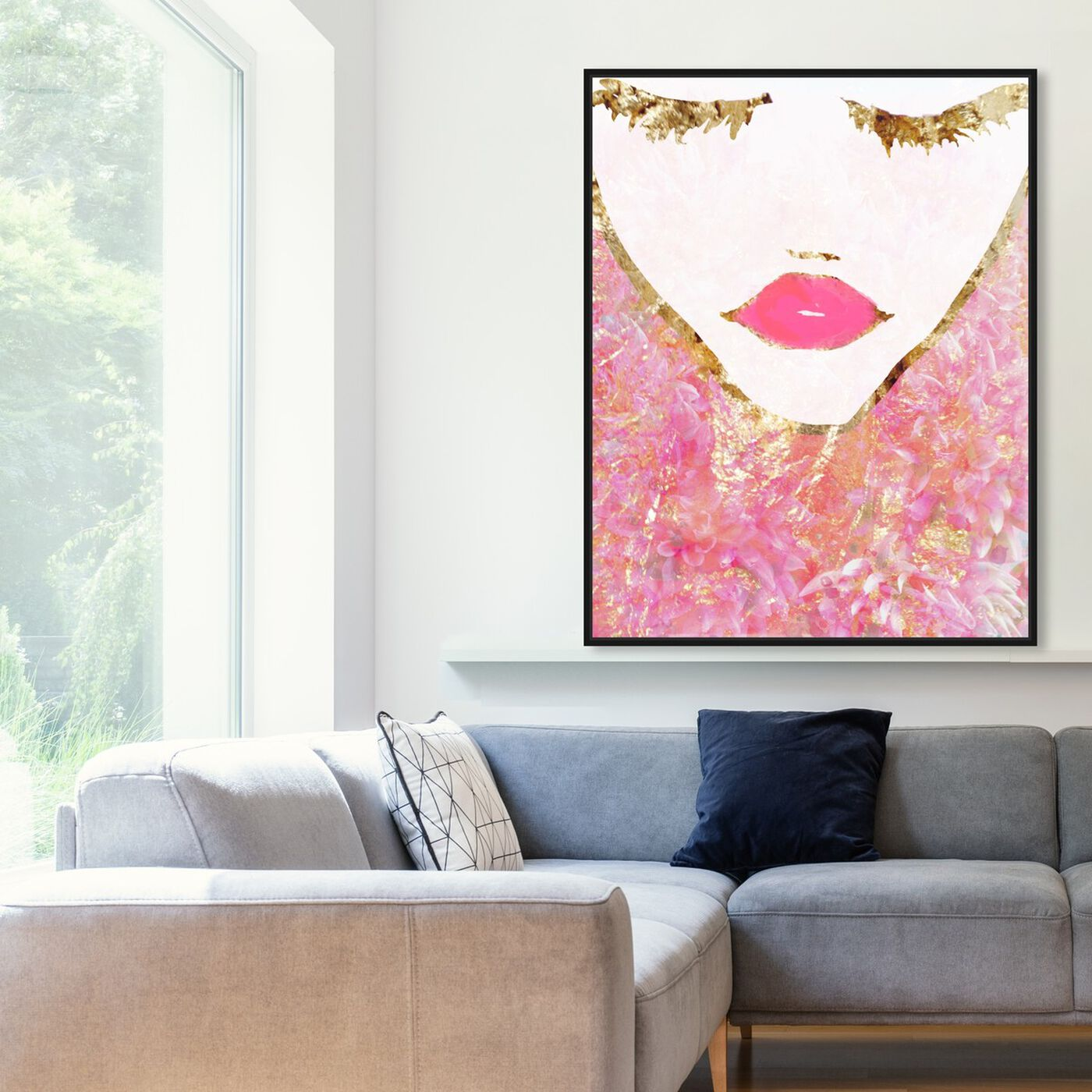 Hanging view of Goldbloom Coveted featuring fashion and glam and portraits art.