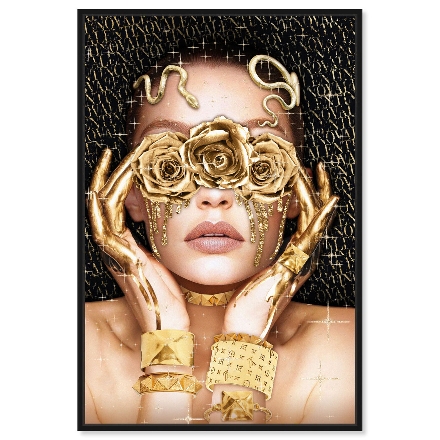 Front view of Golden Romantic featuring fashion and glam and portraits art.
