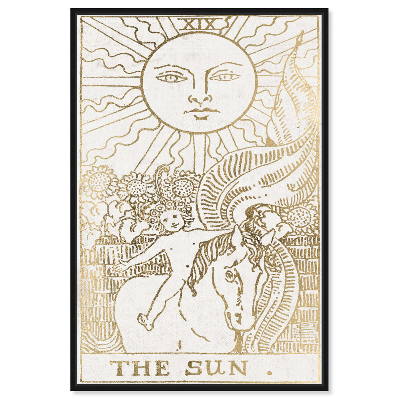 Front view of The Sun Tarot Luxe featuring astronomy and space and zodiac art.