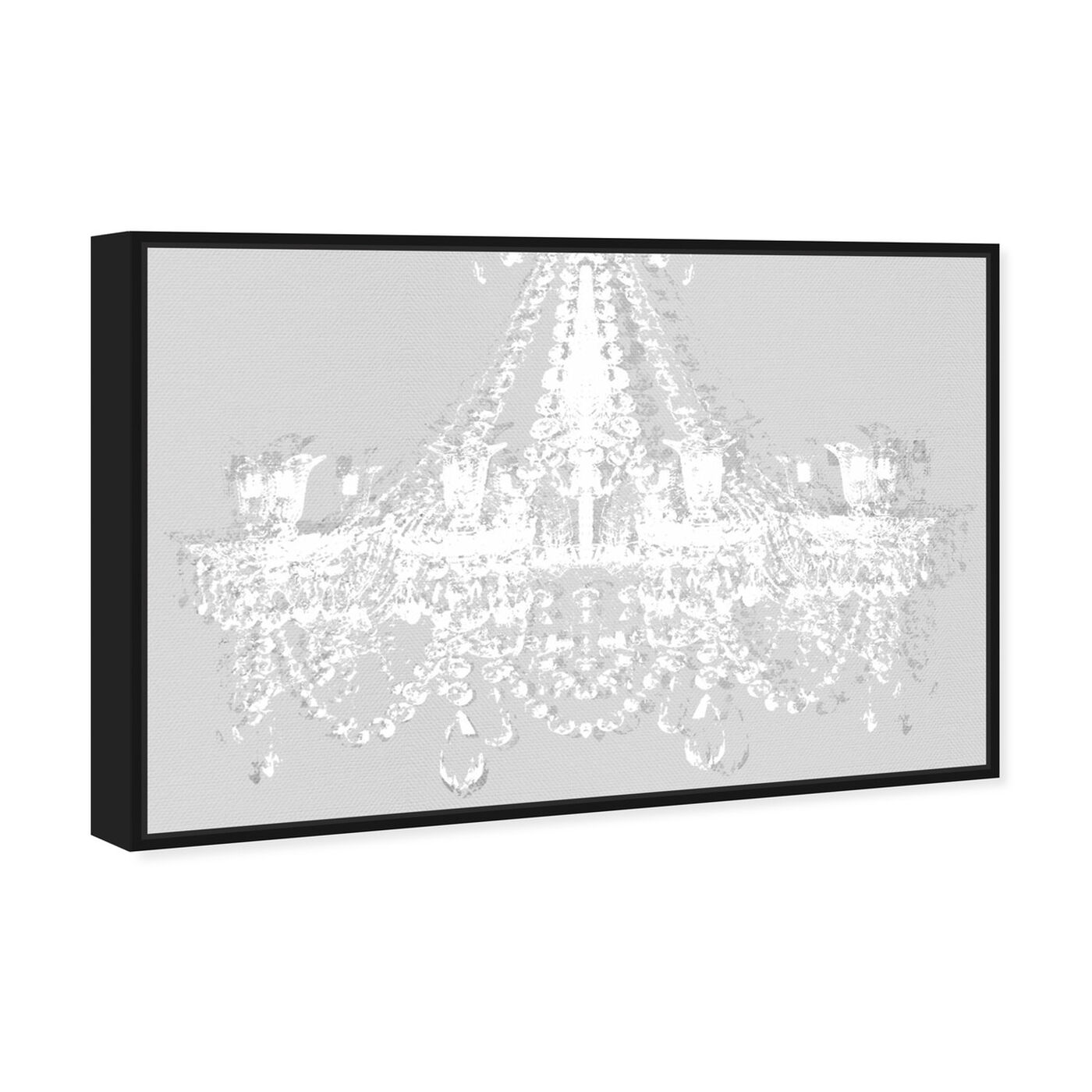 Angled view of Dramatic Entrance Silent Gray featuring fashion and glam and chandeliers art.
