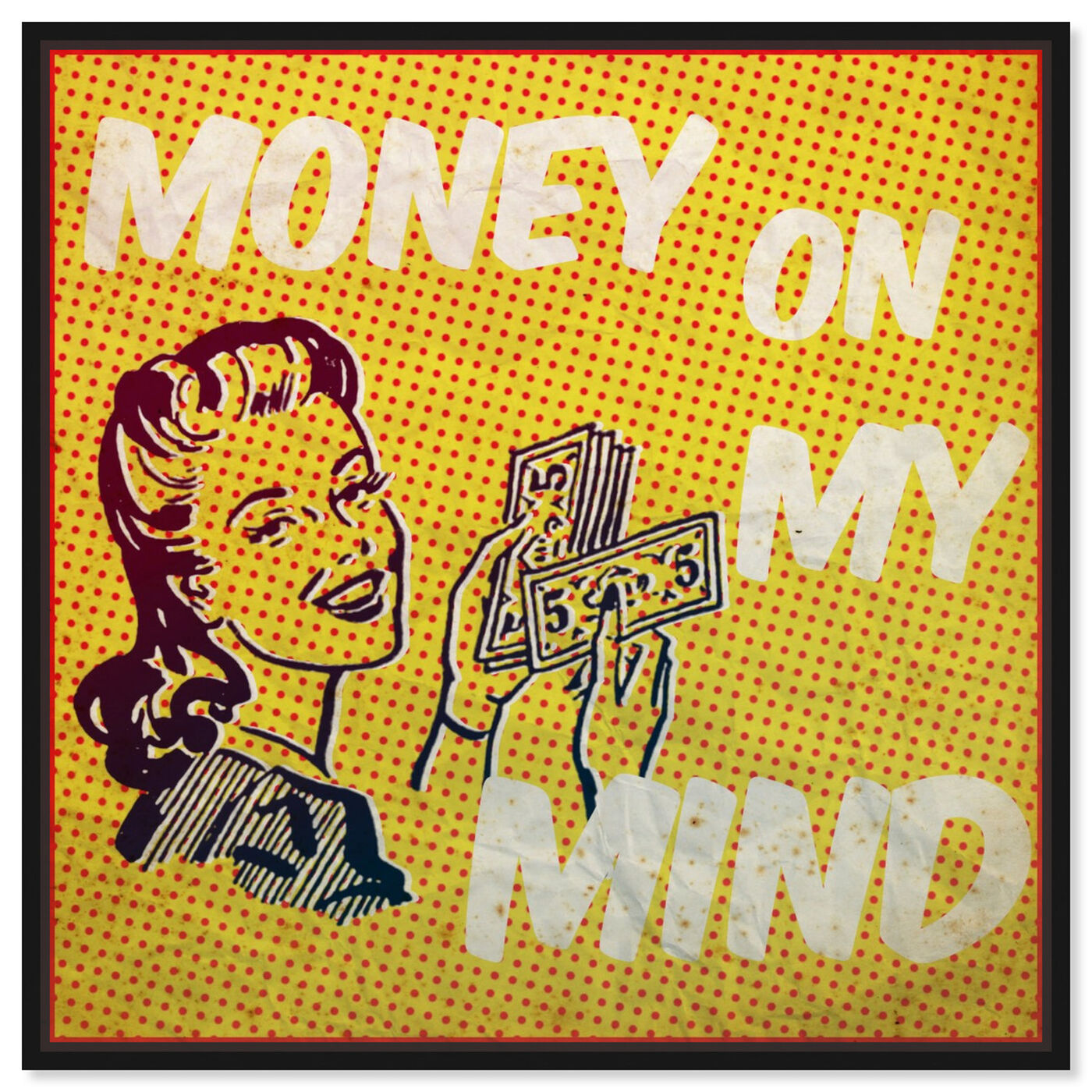 Front view of Money on My Mind featuring advertising and comics art.