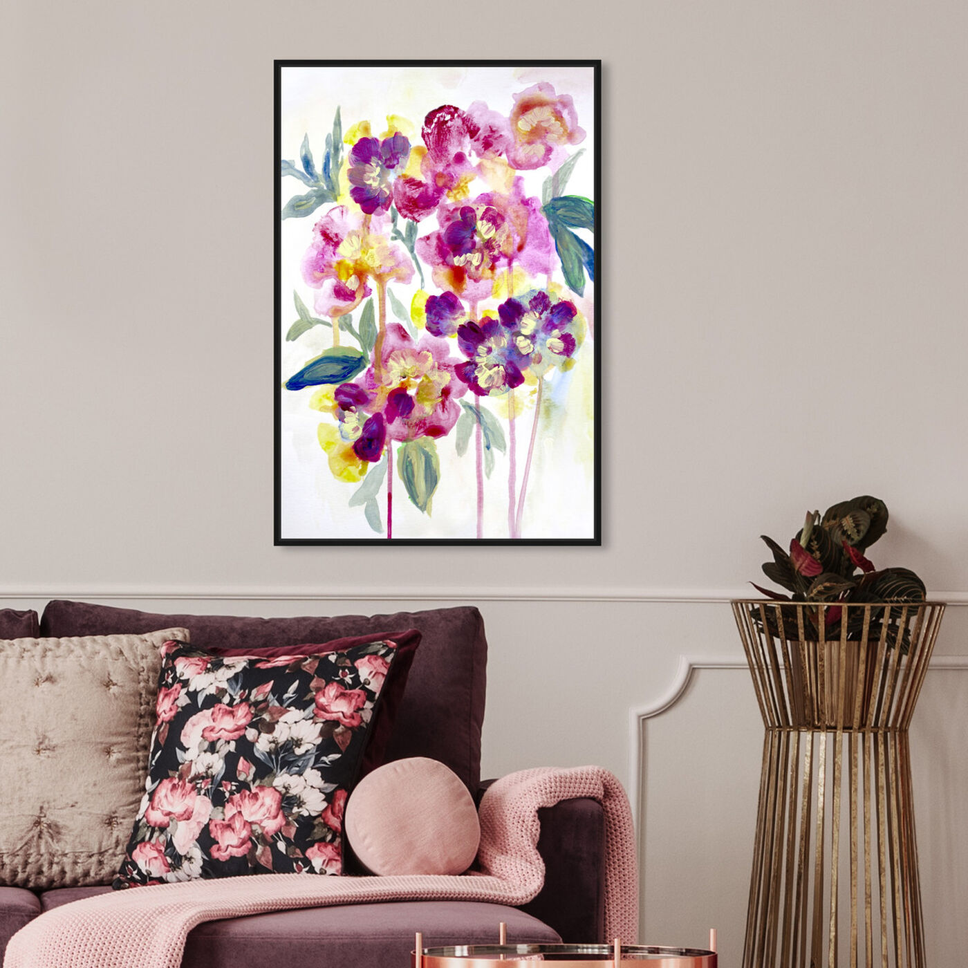 Hanging view of Floral Dawny featuring floral and botanical and florals art.