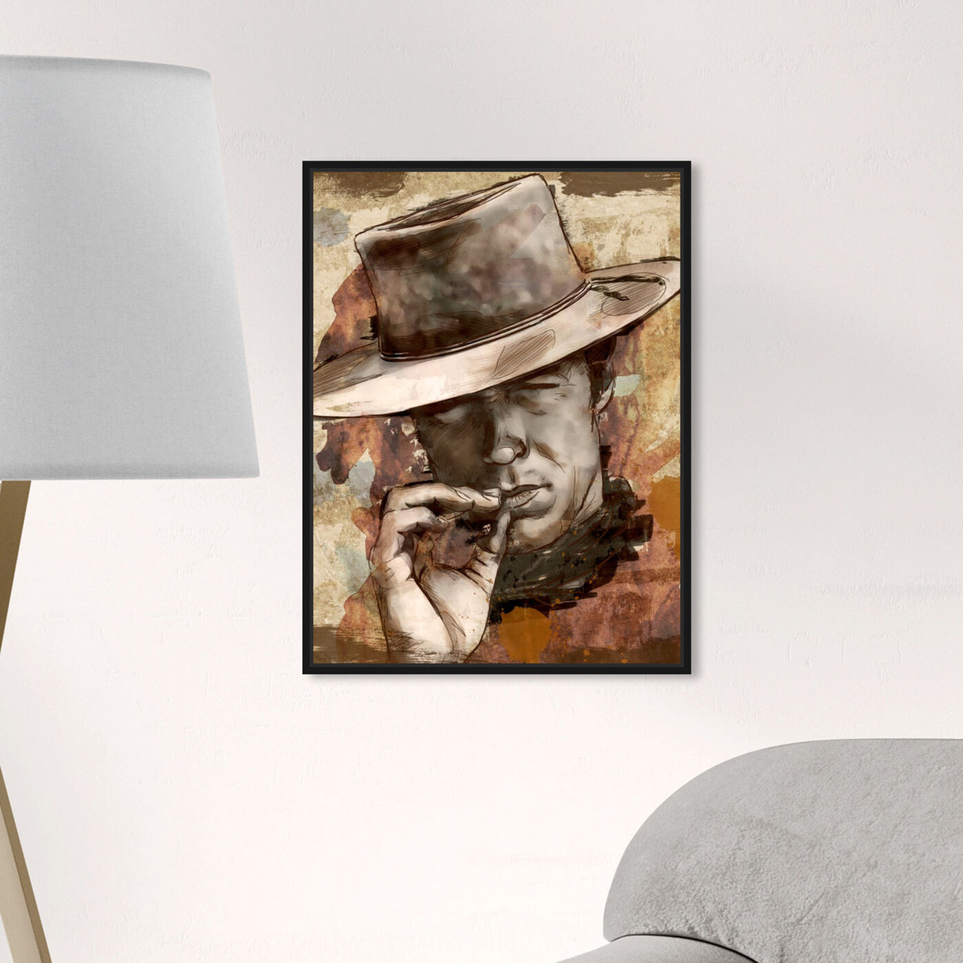 Hanging view of Cowboy featuring people and portraits and professions art.