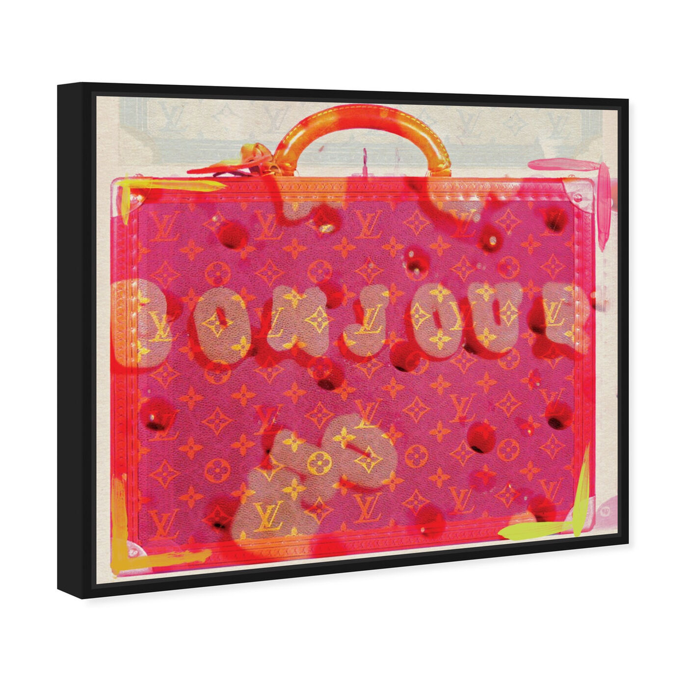 Angled view of Bonjour featuring fashion and glam and handbags art.