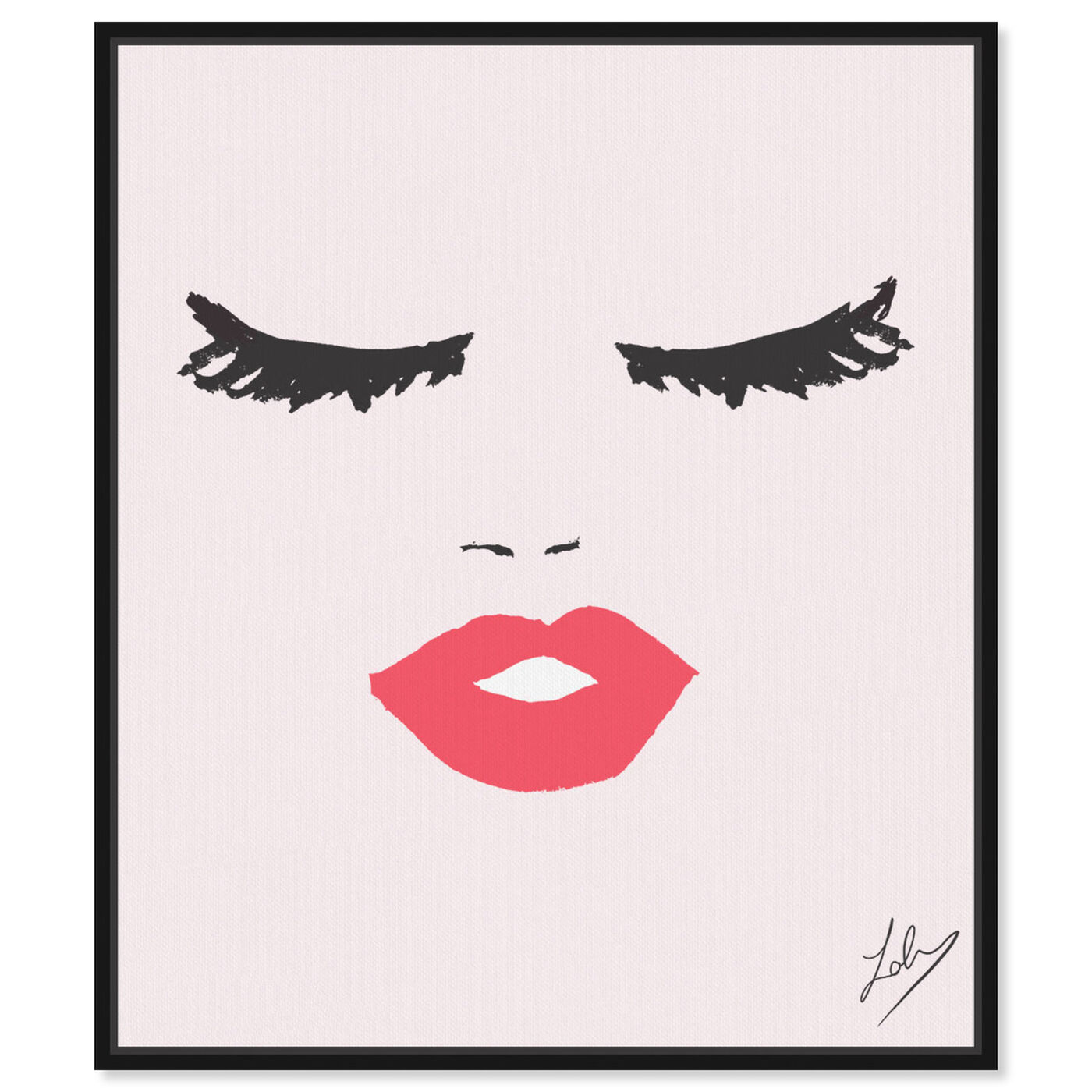 Front view of Fashionista Face featuring fashion and glam and portraits art.
