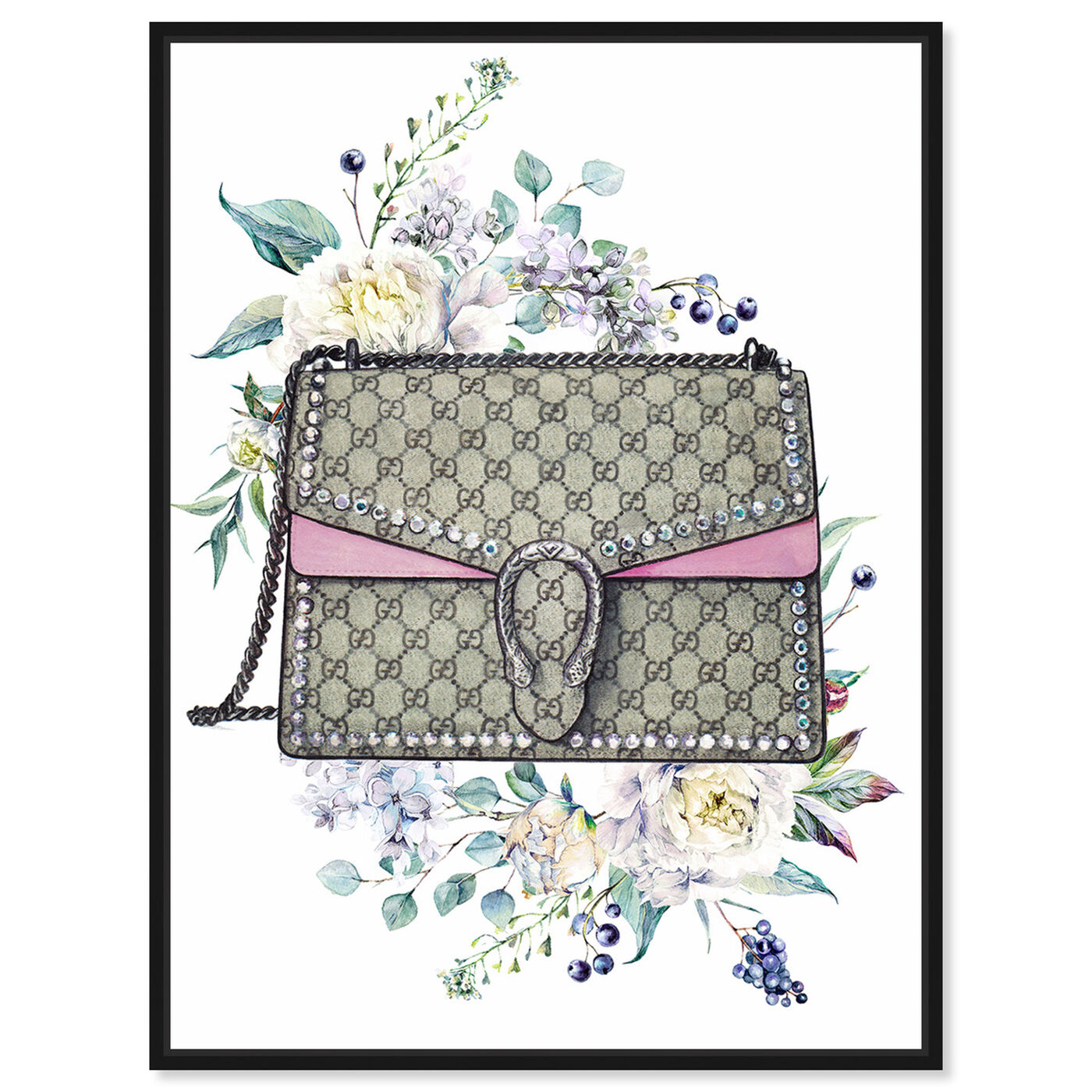 Front view of Doll Memories - Classic featuring fashion and glam and handbags art.
