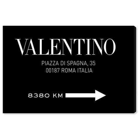 Piazza Road Sign Minimalist BW