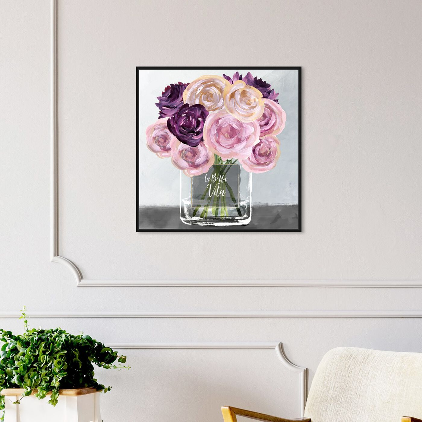 Hanging view of La Bella Vita featuring floral and botanical and florals art.