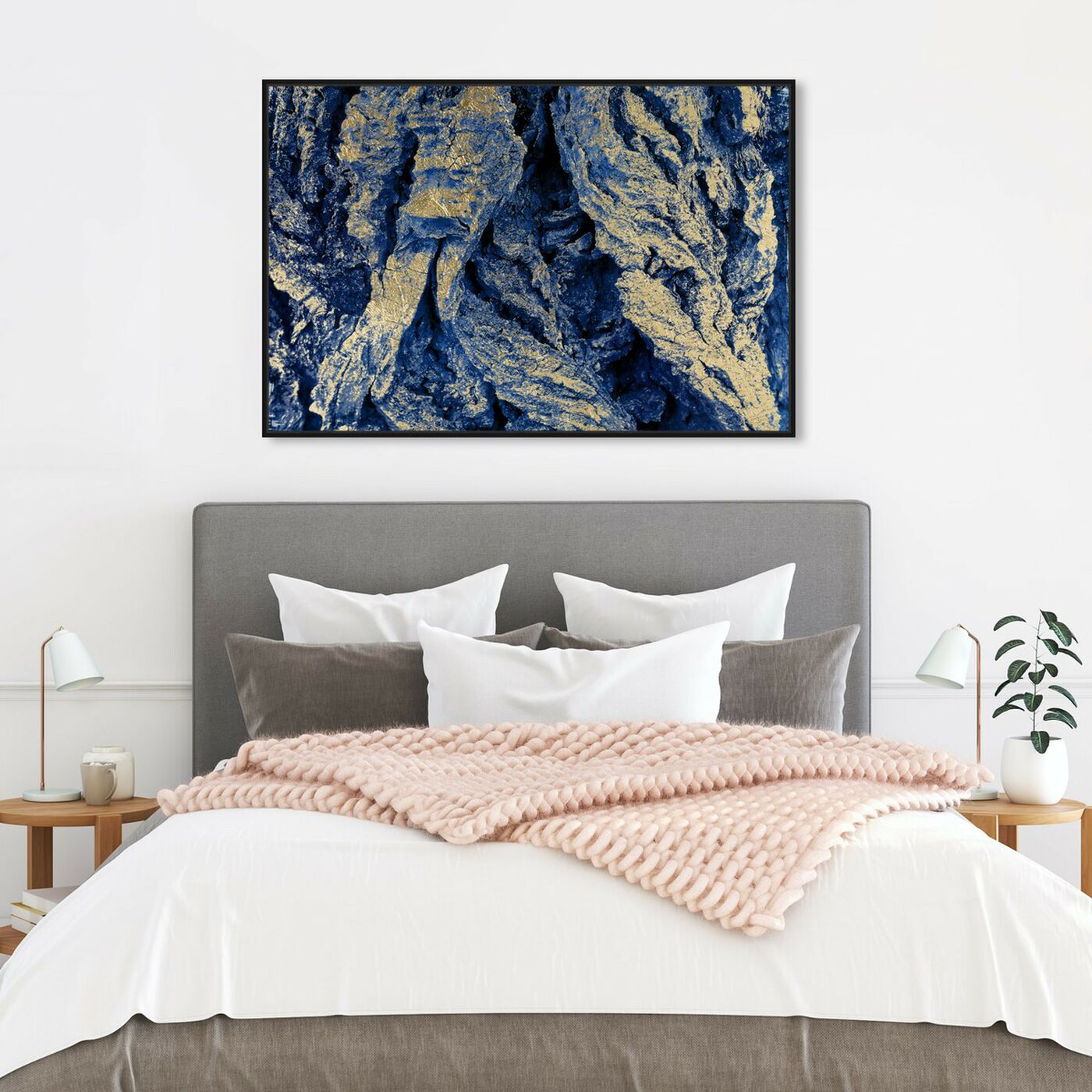 Hanging view of Organic Perfection - Signature Collection featuring abstract and paint art.