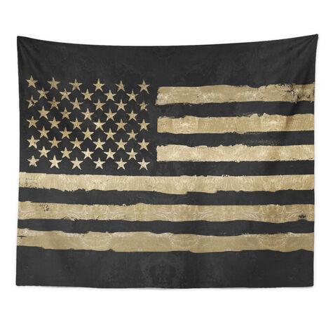 Rocky Freedom Noir Tapestry Art