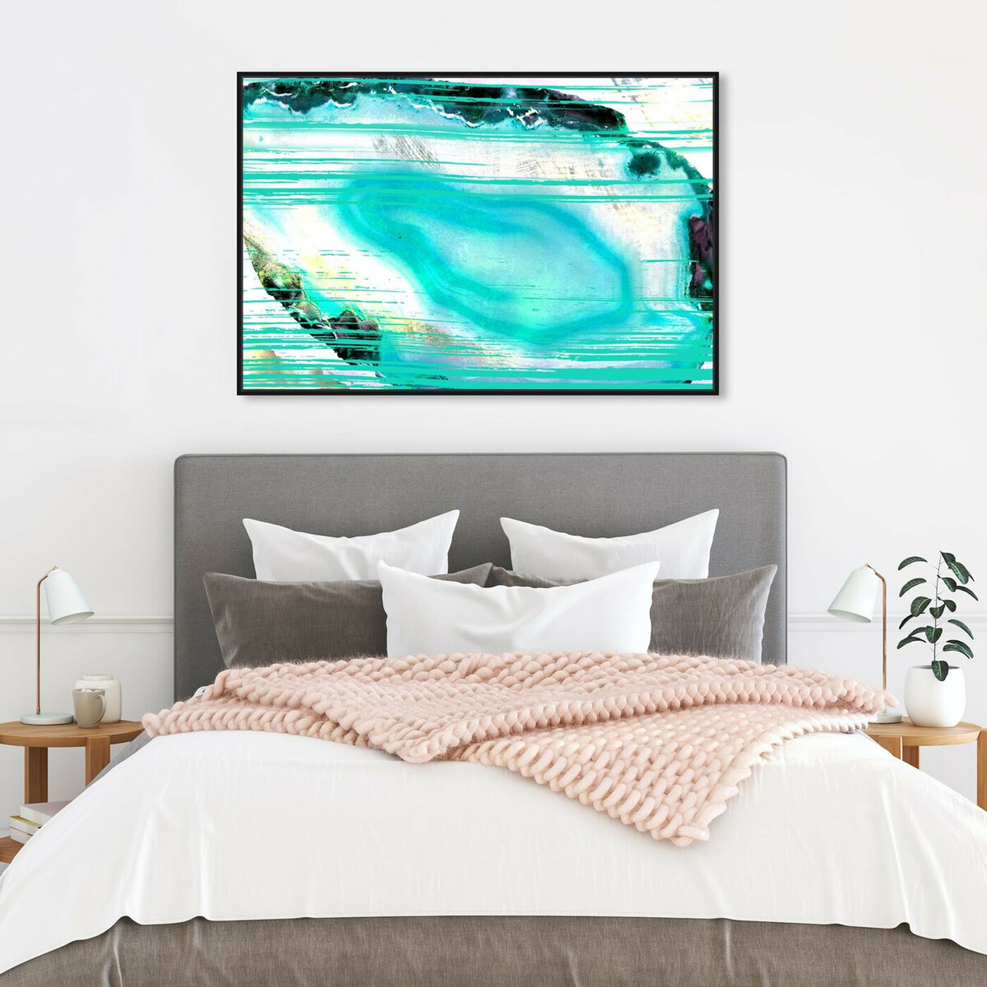 Hanging view of Agate Turca - Signature Collection featuring abstract and crystals art.