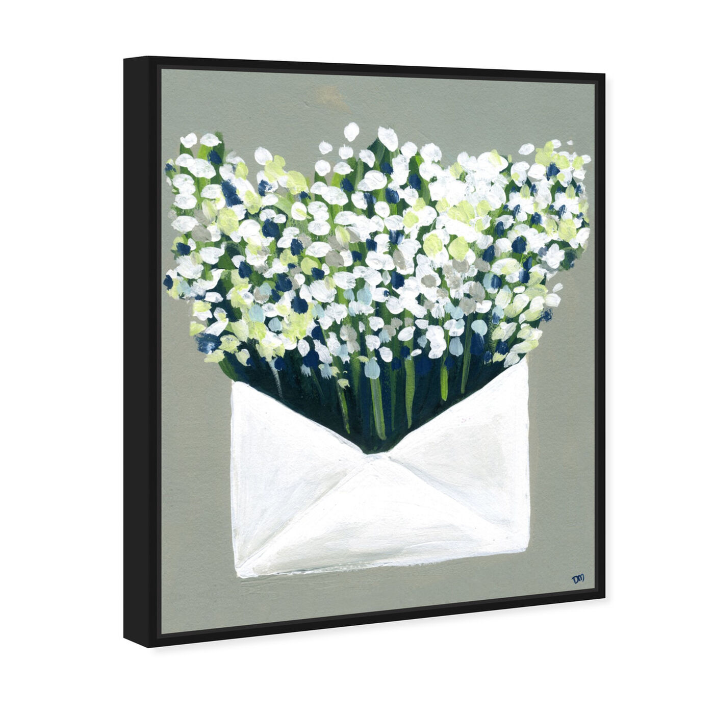 Angled view of Mail from the Valley featuring floral and botanical and florals art.