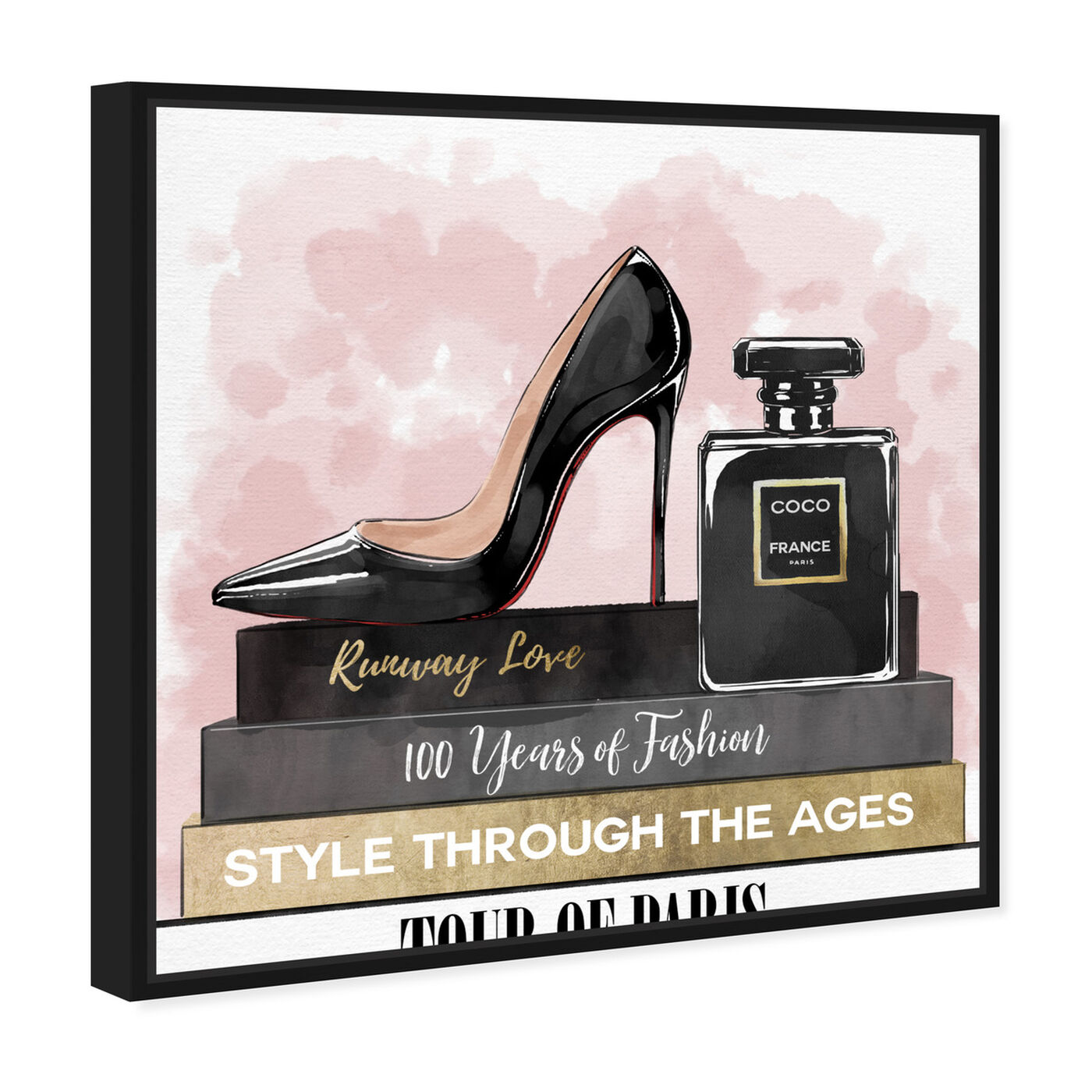 Angled view of Glam Heels and Books featuring fashion and glam and shoes art.