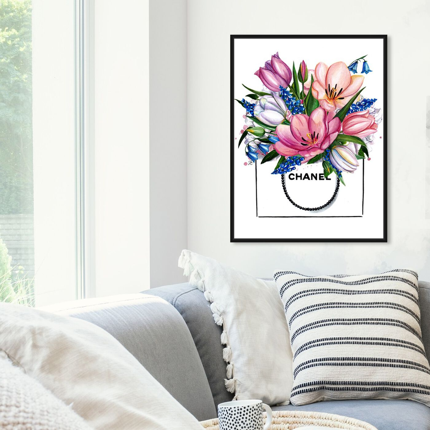Hanging view of Doll Memories - Tulip Shopping featuring floral and botanical and florals art.