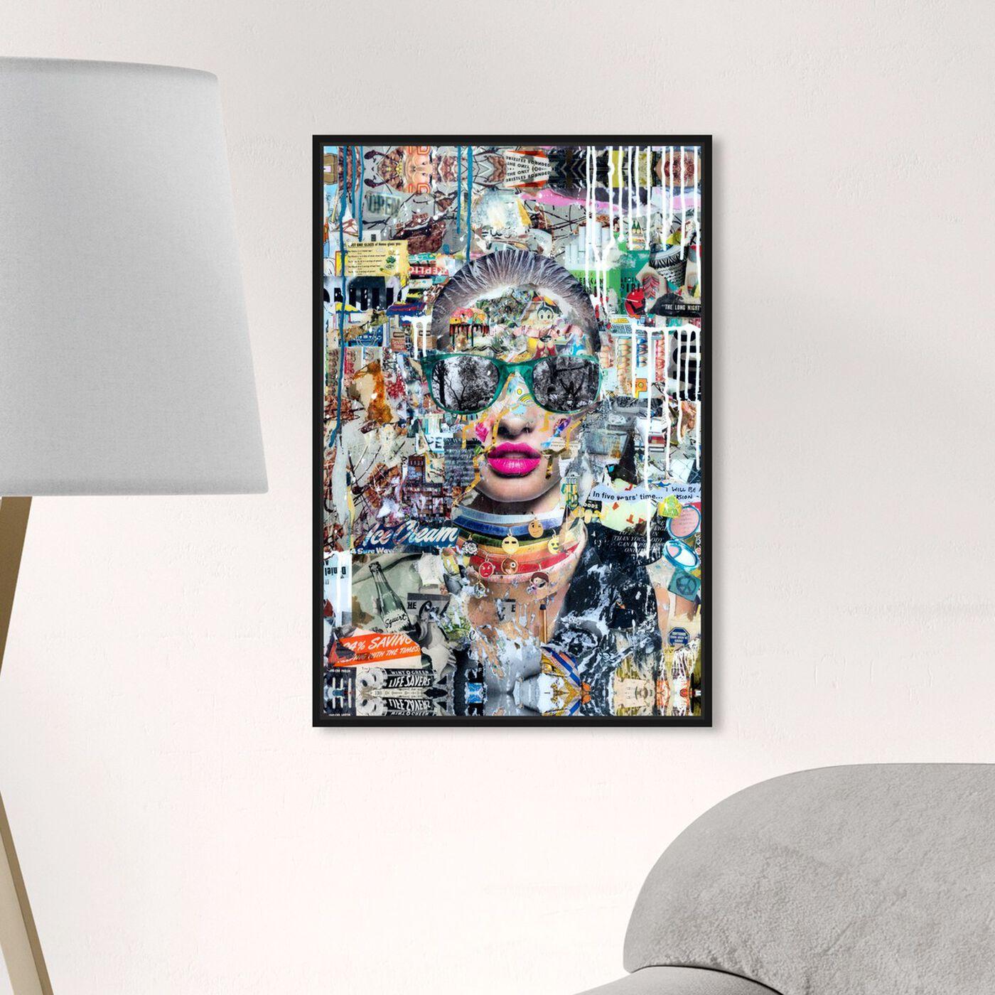 Hanging view of Katy Hirschfeld - LongNight featuring fashion and glam and portraits art.