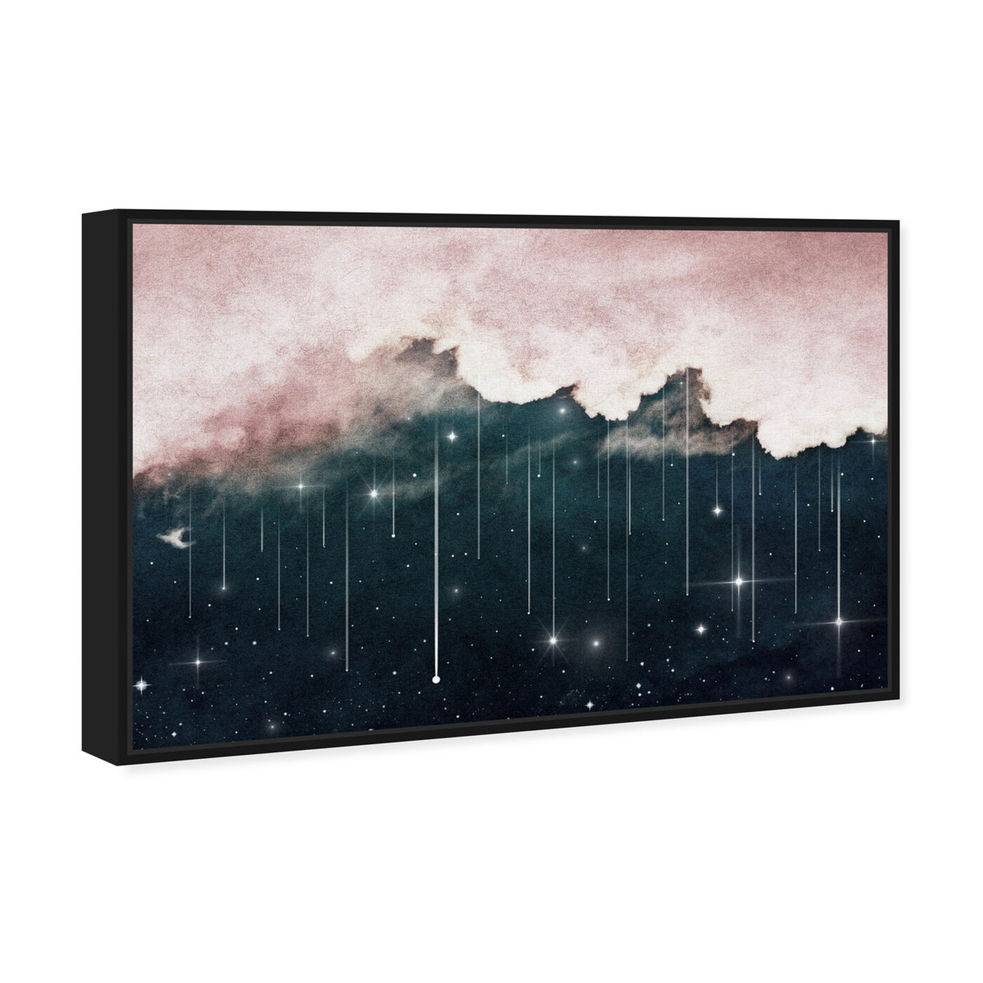 Angled view of Starry Eyes Starry Night featuring nature and landscape and skyscapes art.