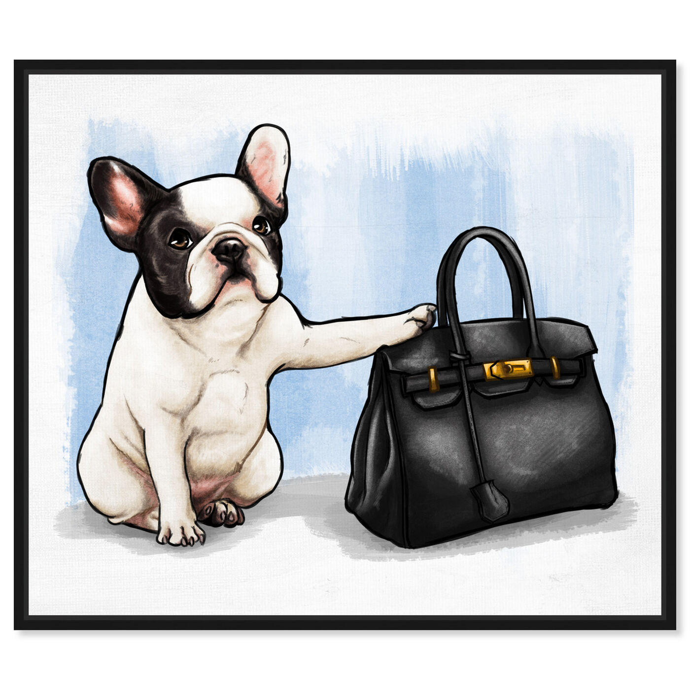 Front view of The Clear Choice featuring fashion and glam and handbags art.