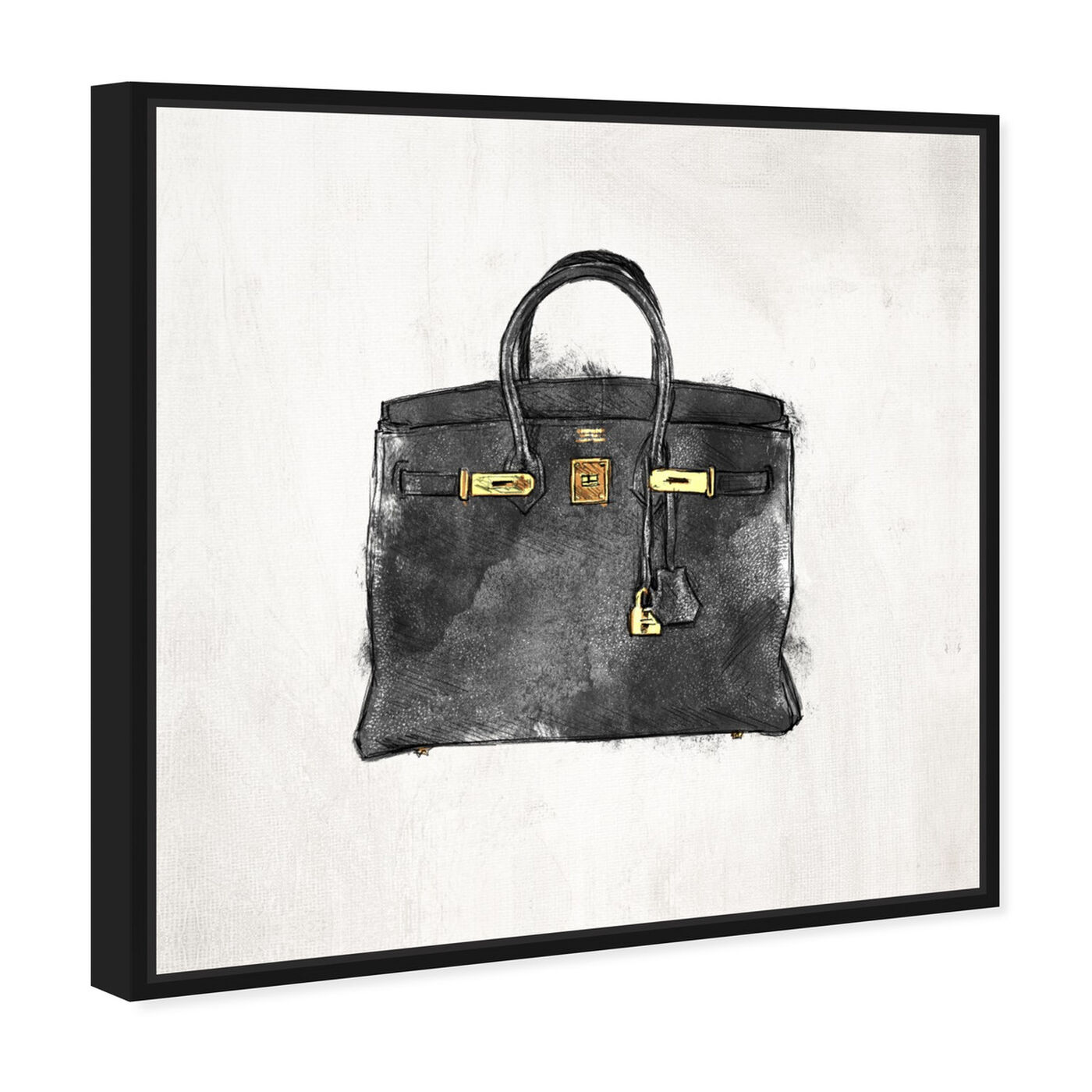 Angled view of My Lucky Bag Black I featuring fashion and glam and handbags art.