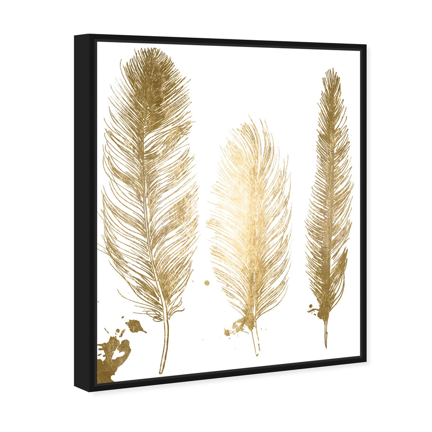Angled view of Gold Feathers featuring fashion and glam and feathers art.