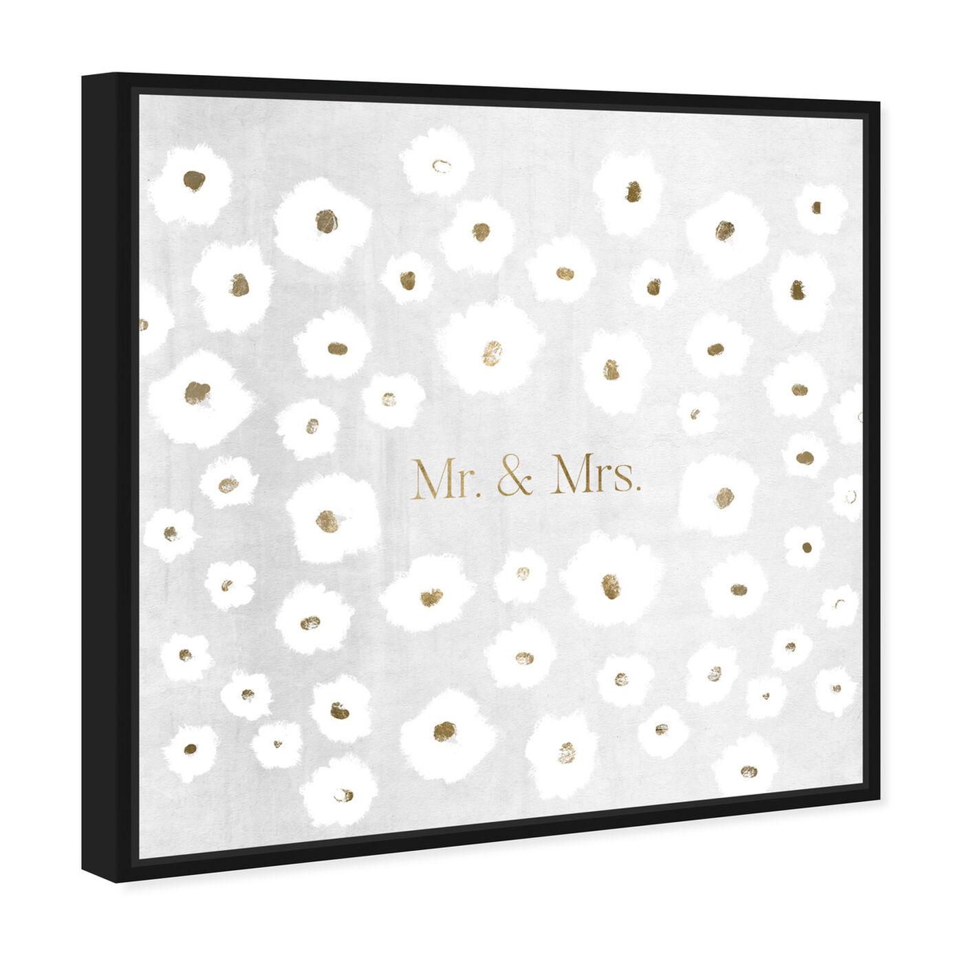 Angled view of Mr and Mrs featuring typography and quotes and love quotes and sayings art.