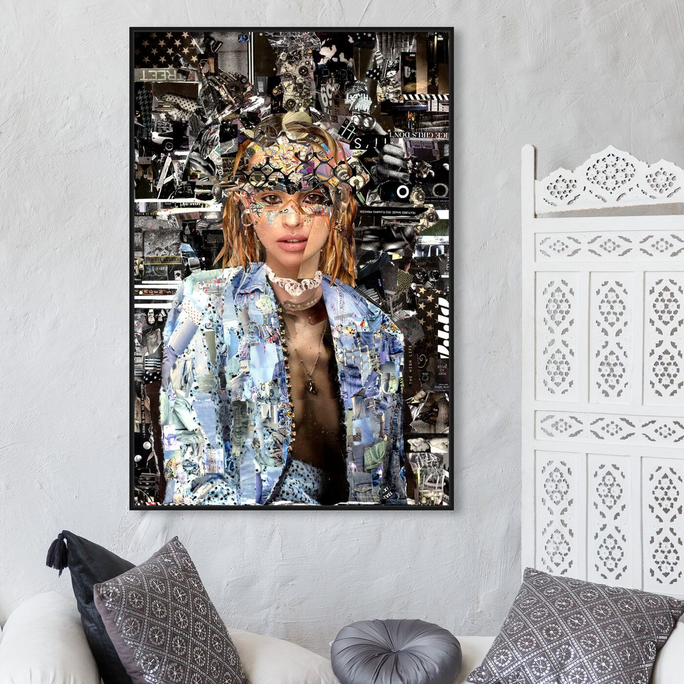 Hanging view of Katy Hirschfeld - Queen of her Realm featuring fashion and glam and portraits art.