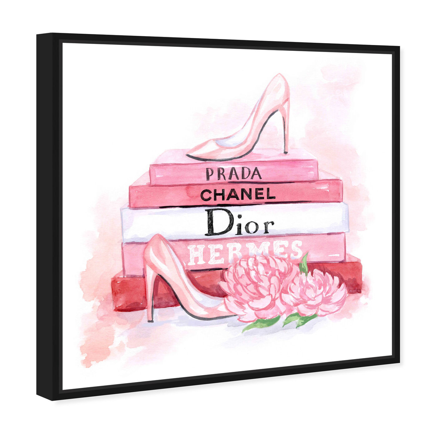 Angled view of fashion pink books featuring fashion and glam and books art.