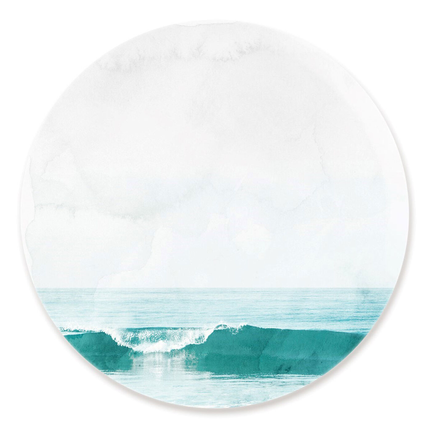 Front view of The Wave Circle featuring nautical and coastal and coastal landscapes art.