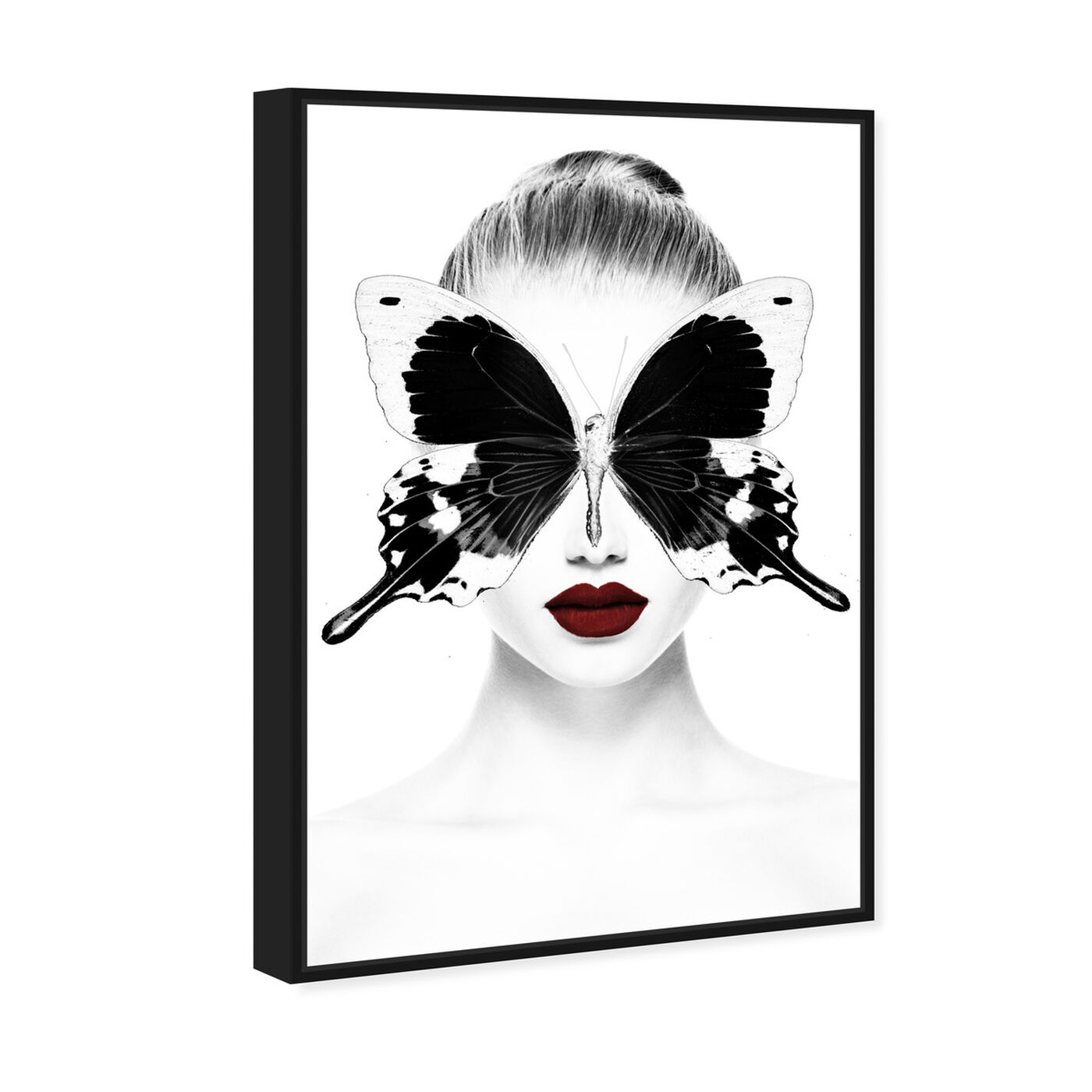 Angled view of Red Duchess Toujours featuring fashion and glam and portraits art.
