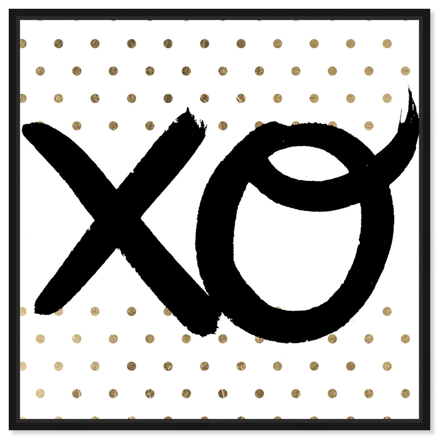 Front view of XO featuring typography and quotes and signs art.