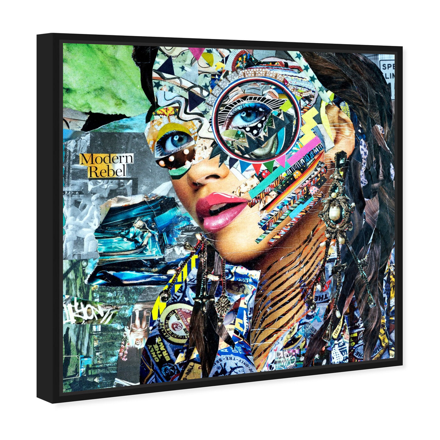 Angled view of ModernRebel by Katy Hirschfeld featuring fashion and glam and portraits art.
