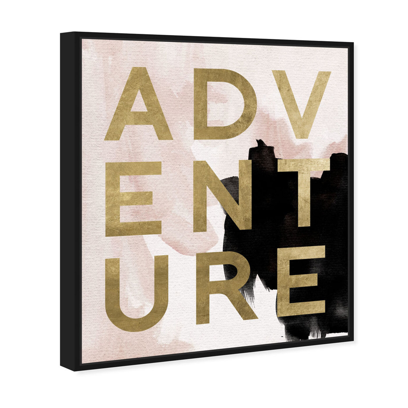 Angled view of More Adventures Neutral featuring typography and quotes and motivational quotes and sayings art.
