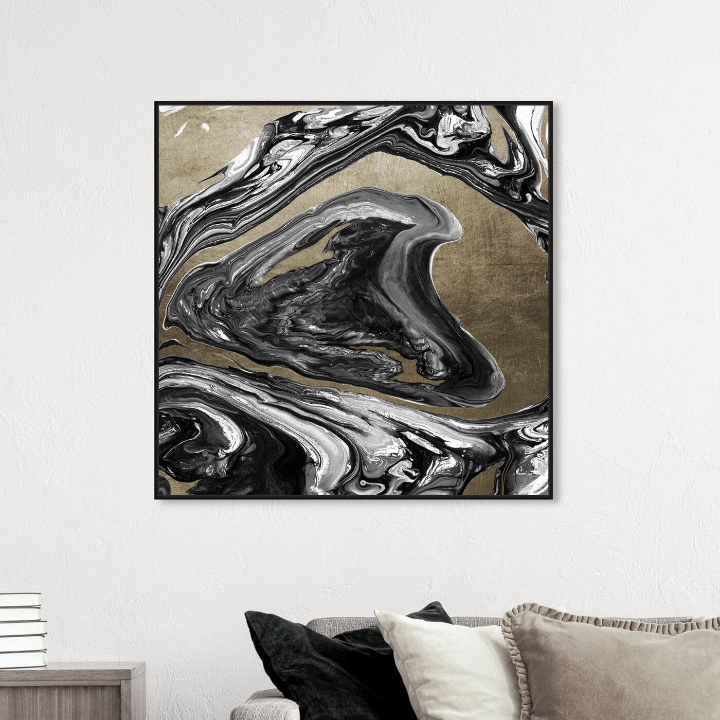 Hanging view of Agate Ultimate Luxe Champagne featuring abstract and crystals art.