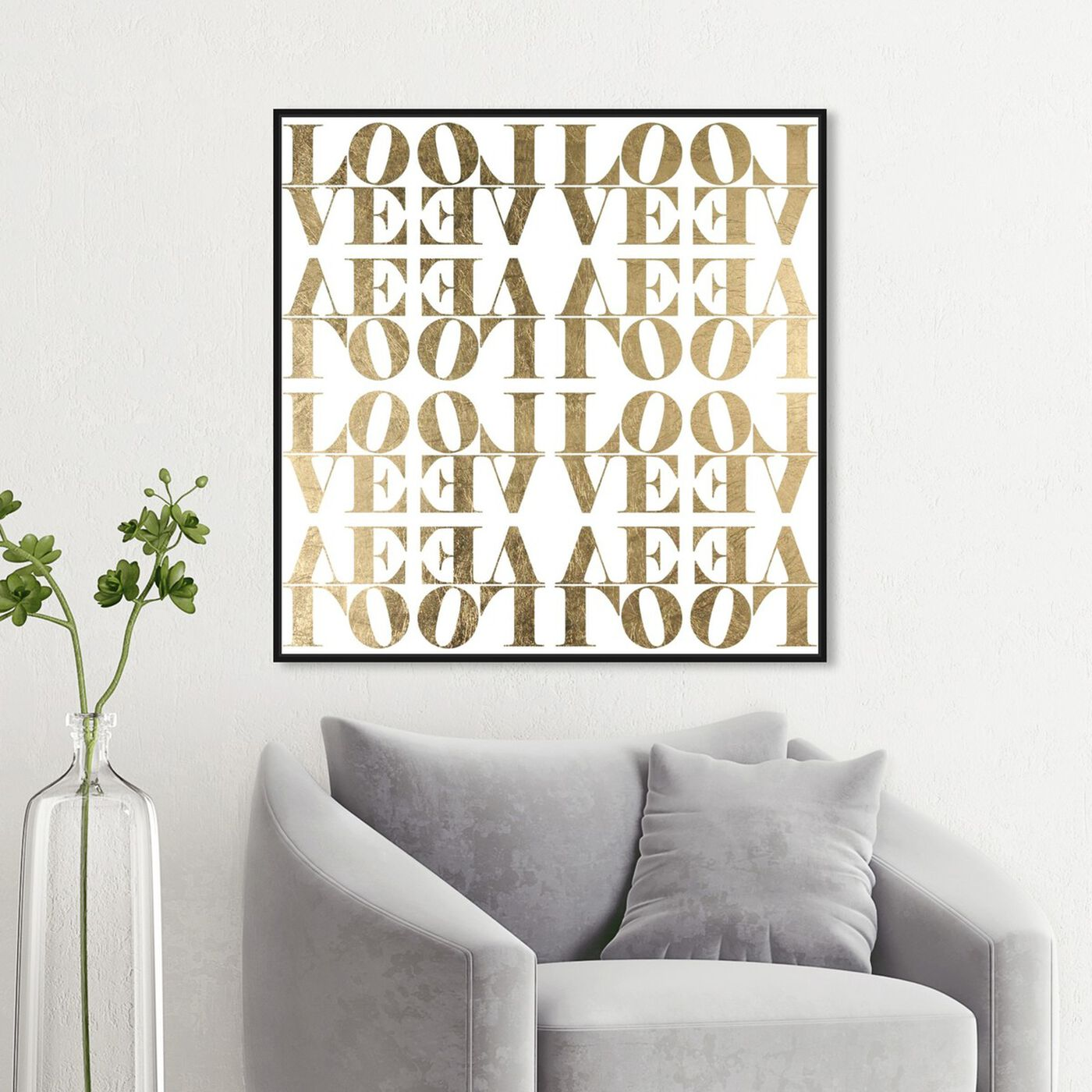 Hanging view of Infinite Love I featuring typography and quotes and love quotes and sayings art.