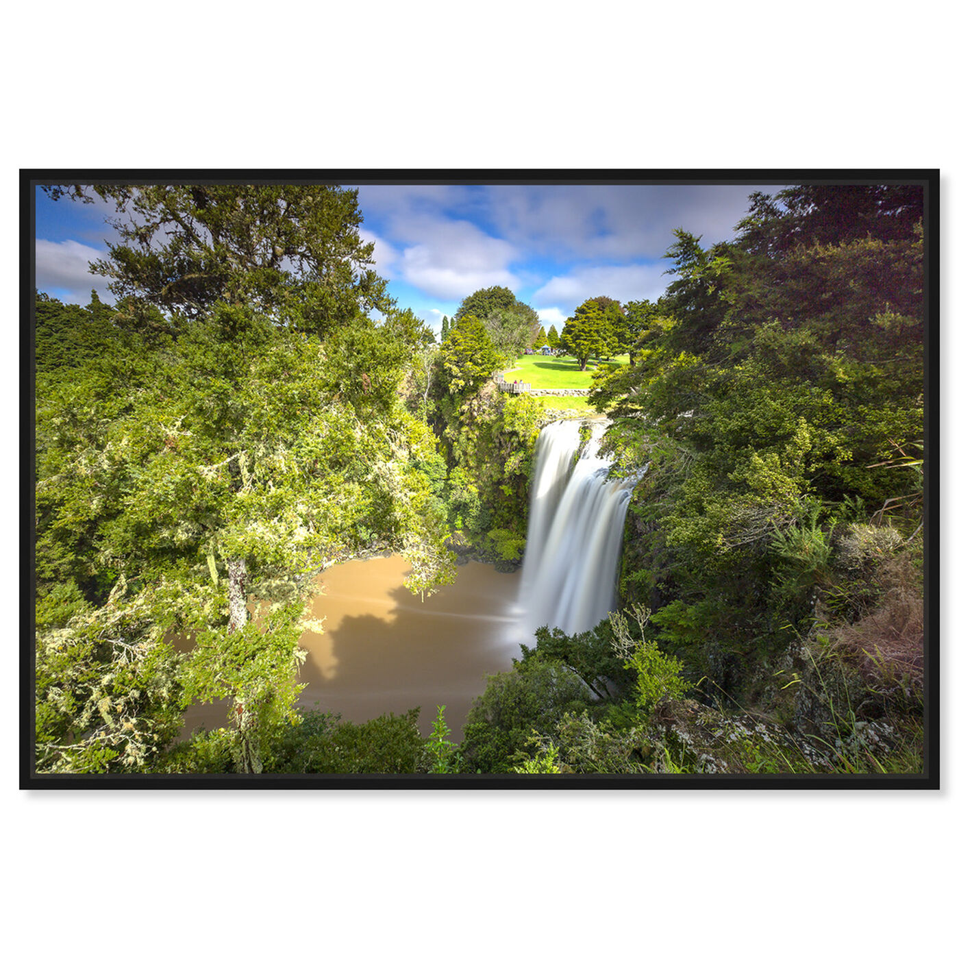 Front view of Curro Cardenal - Rainforest II featuring nature and landscape and nature art.