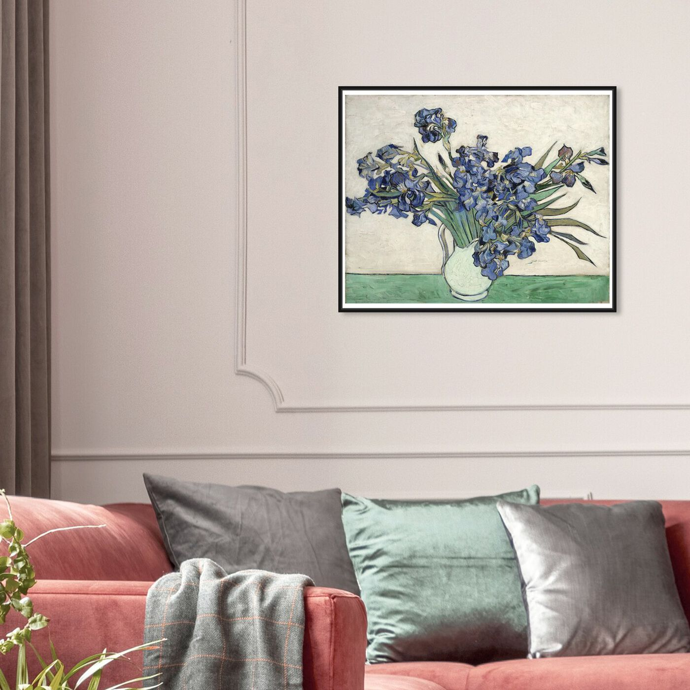 Hanging view of Van Gogh - Irises featuring floral and botanical and florals art.