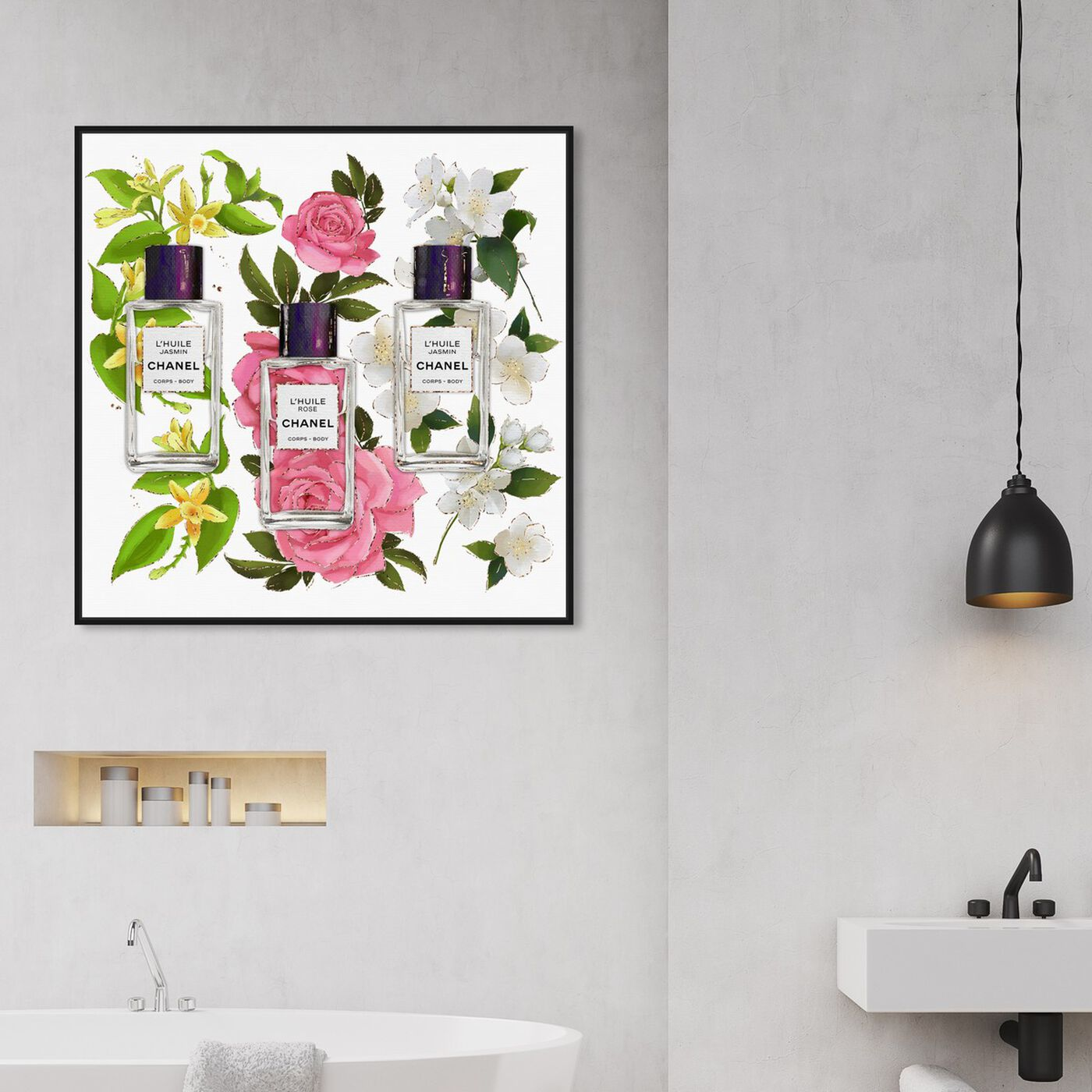 Hanging view of Absolutely Fragrant featuring fashion and glam and perfumes art.