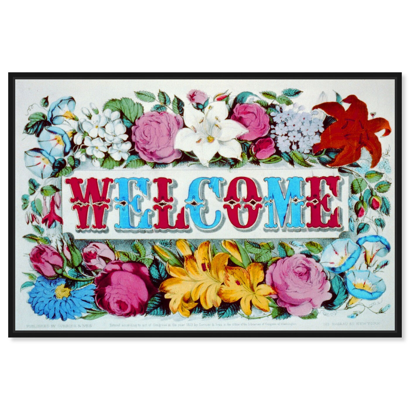 Front view of Welcome featuring typography and quotes and family quotes and sayings art.