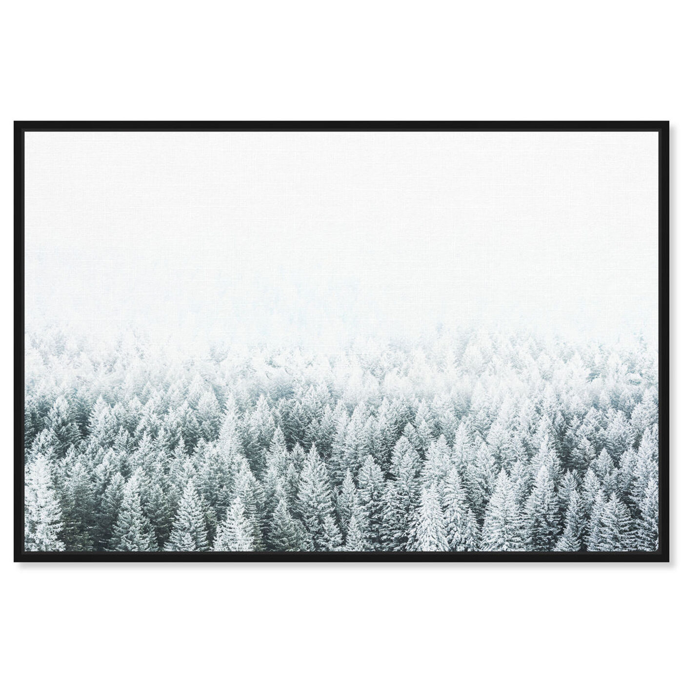 Front view of Pine Forest featuring nature and landscape and forest landscapes art.